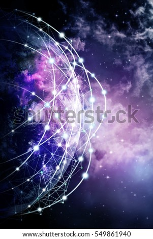 Global network internet Concept. Elements of this image furnished by NASA.