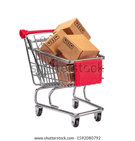 Global or worldwide online shopping, retail e-commerce and delivery service concept