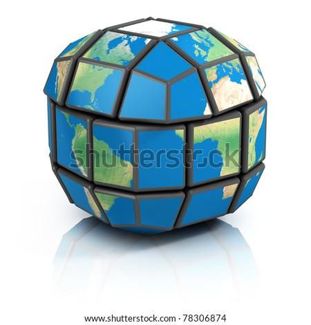 global politics, globalization, 3d concept - stock photo