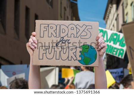 Global strike for planet, students protesting during fridays for future #1375691366