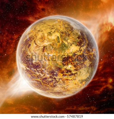 Global warming effect on earth