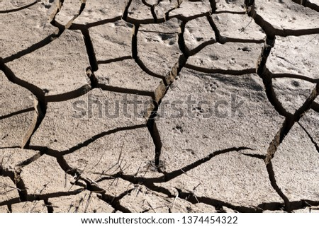 global warming equals: thirst and drought,drought or soil breaking,