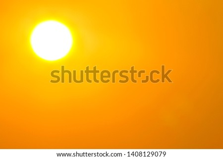Global warming from the sun and burning, heat wave hot sun, climate change, Heatwave hot sun, makes heat stroke