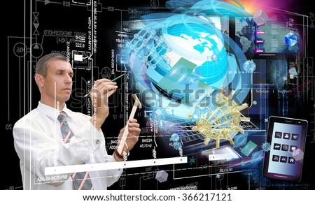 Globalization connection Internet technology.Generation telecommunications innovation technology #366217121