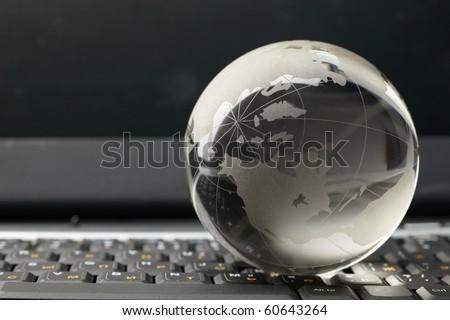 Globe and keyboard