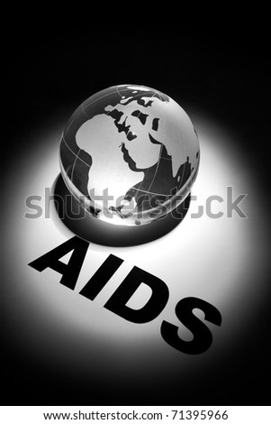 globe, concept of Global AIDS spread and Prevention