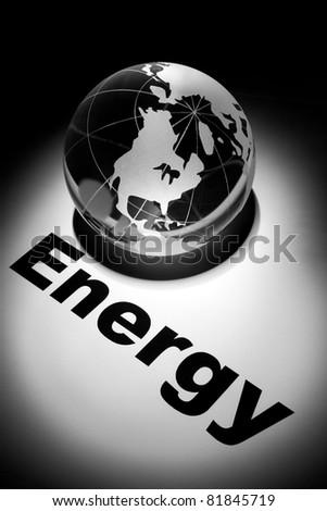 globe, concept of Global Energy short