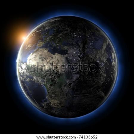 Globe. Earth map from NASA
