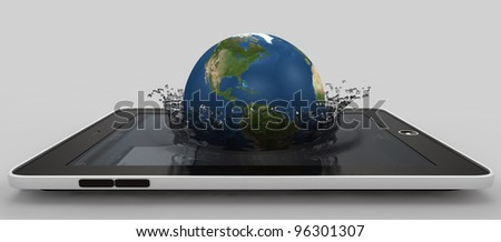 Globe falling into the device's screen