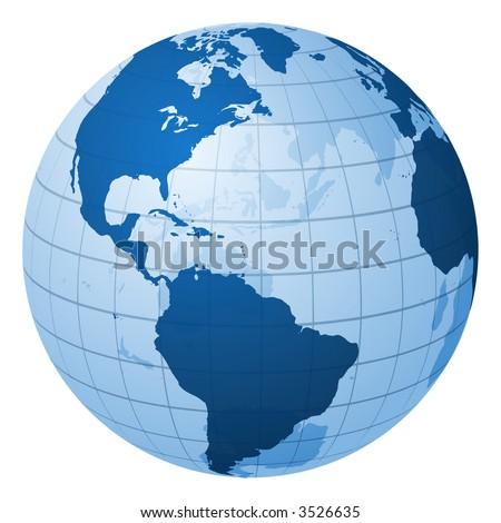 Globe focused on America