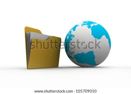 Globe Icon: Folder