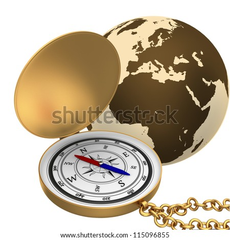 Globe Icon: Navigation - stock photo