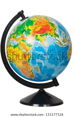 Globe isolated on white
