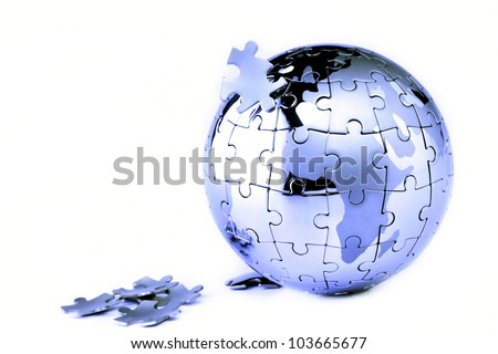 Globe isolated on white background - stock photo
