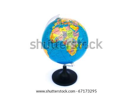 Globe isolated on white background.