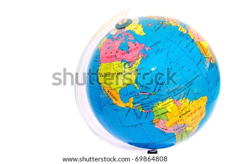 Globe isolated on white background.