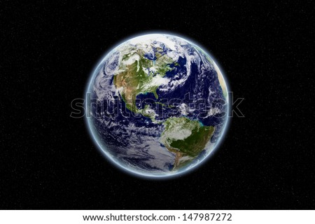 Stock Photo Globe - north and south america - earth texture by NASA.gov