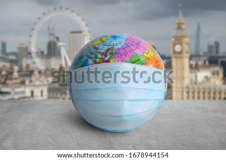 Globe of Coronavirus (Covid-19), Coronavirus disease 2019 situation worldwide coronavirus crisis. Foto stock ©
