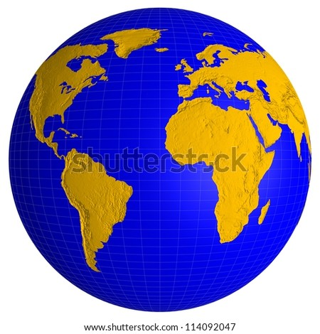 Globe of Earth isolated on white background