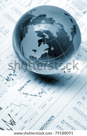 Globe on business documents