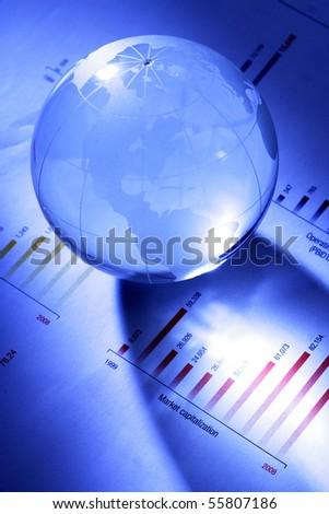 Globe on document
