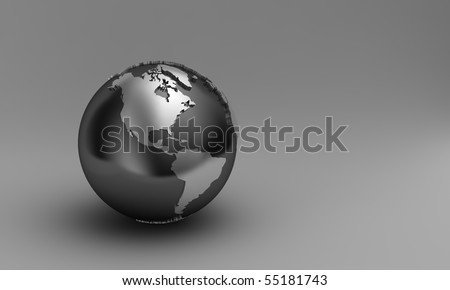 Globe showing North and South America over gradient background