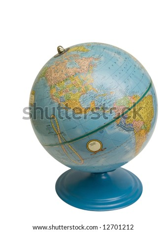 Globe with clipping path.