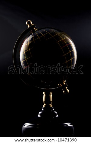 Globe with dramatic lighting