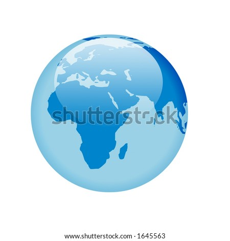 globe with glass effect - africa & europe
