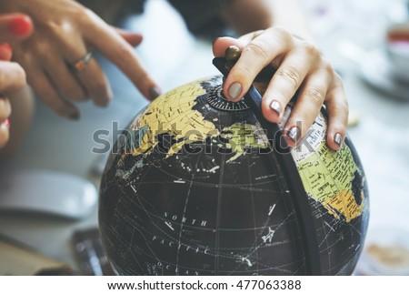 globe world map travel explore...