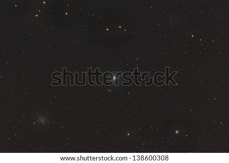 Globular Cluster M53 and Open Cluster NGC 5053