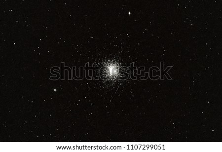 Globular cluster M13 in the constellation of hercules.