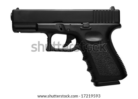 Glock pistol, airsoft version isolated over white