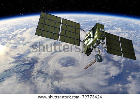 GLONASS satellite - stock photo
