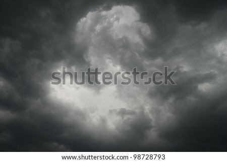 Gloomy clouds have shrouded sky before a thunderstorm