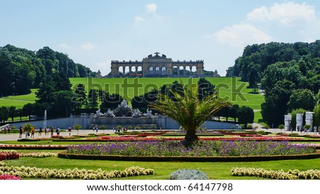 Gloriette  in Schoenbrunn Palace Park in Vienna,Austria.