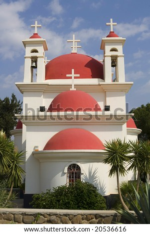 Glorious Greek Orthodox Church at  Israel.