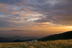 Glorious Sunset View From Roan Mountain Horizontal