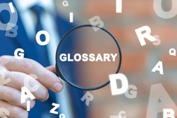 Glossary Concept. Search Information, Web Guide, Dictionary, Vocabulary.