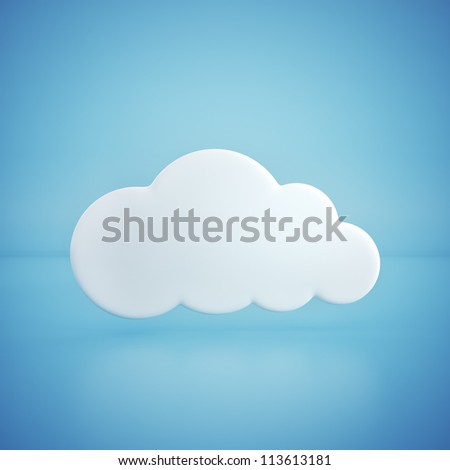 glossy cloud on blue