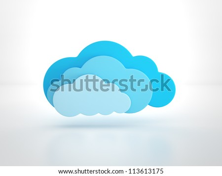 glossy cloud on white
