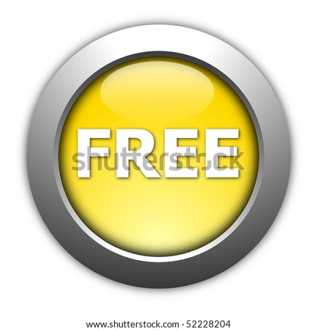 glossy free button illustration isolated on white