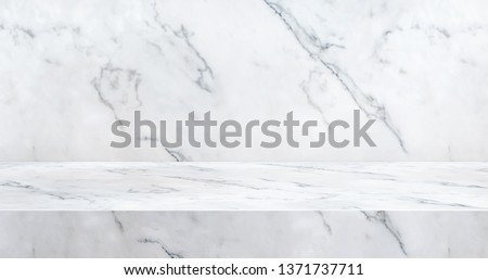Glossy marble table studio banner bg for product display stand with copy space for display of content design.luxury background for advertise product on website.3d rendering.