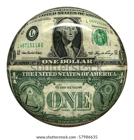 Glossy Money Button, Real Dollar