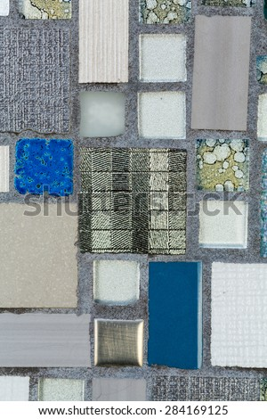 Glossy mosaic. Abstract seamless background.
