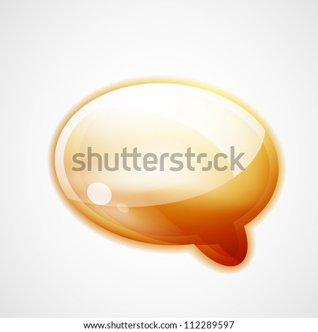 Glossy speech bubble art