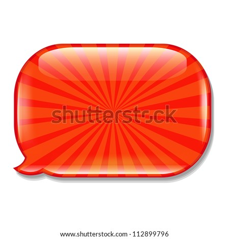Glossy Speech Bubble, Isolated On White Background