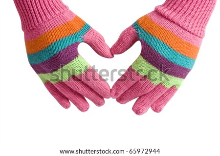 gloves are a heart