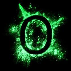 Glow in the dark grunge alphabet