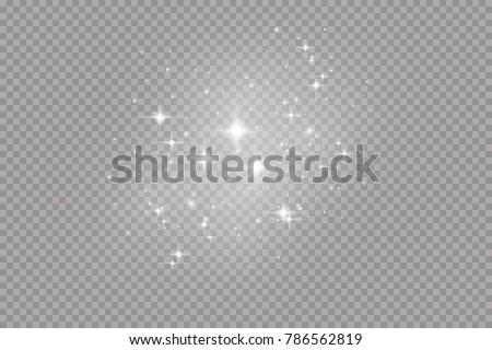 Glow light effect. Vector illustration. Christmas flash. dust - Shutterstock ID 786562819